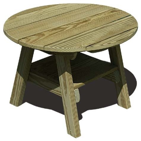 Treated Pine Round Table Contemporary Side Tables And End Tables