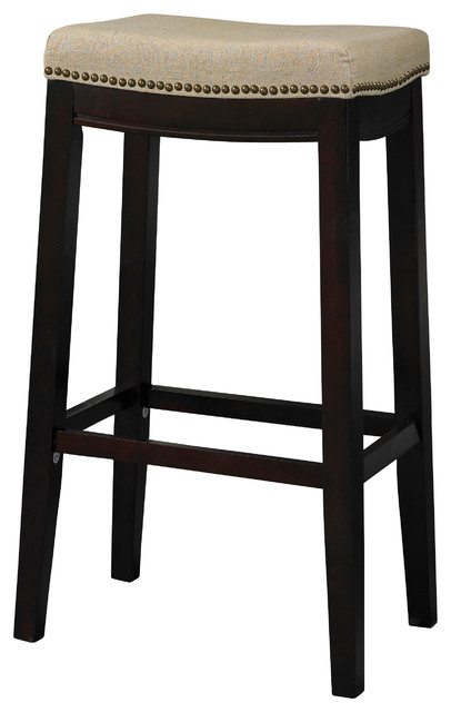 Allure Stool Fabric Top 24 Quot Transitional Bar Stools