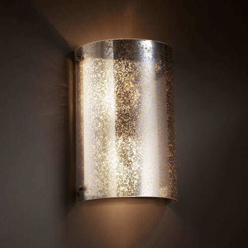 Dark Bronze Vanity Lights : Fusion Finials Two-Light Dark Bronze Curved Wall Sconce contemporary-bathroom-vanity-lighting