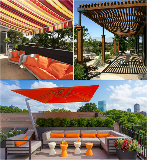 Deco para protegerse del sol p rgolas toldos o sombrillas - Sombrillas de terraza ...