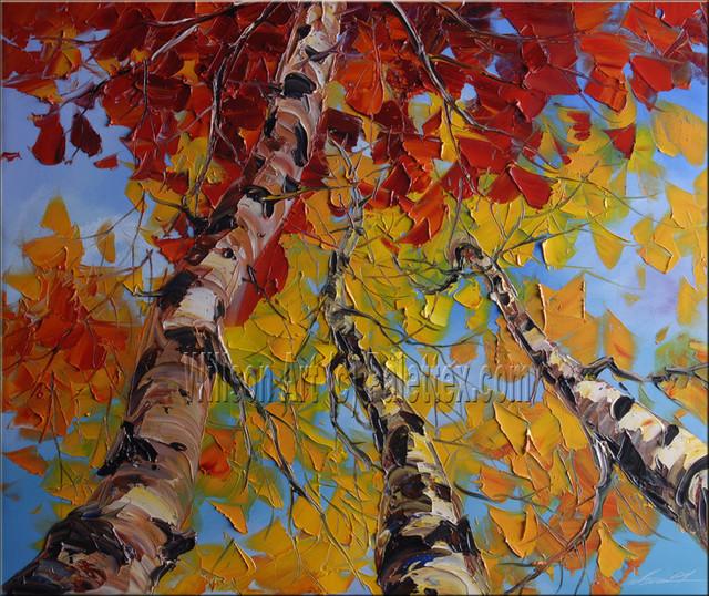 Original Textured Palette Knife Landscape Painting By