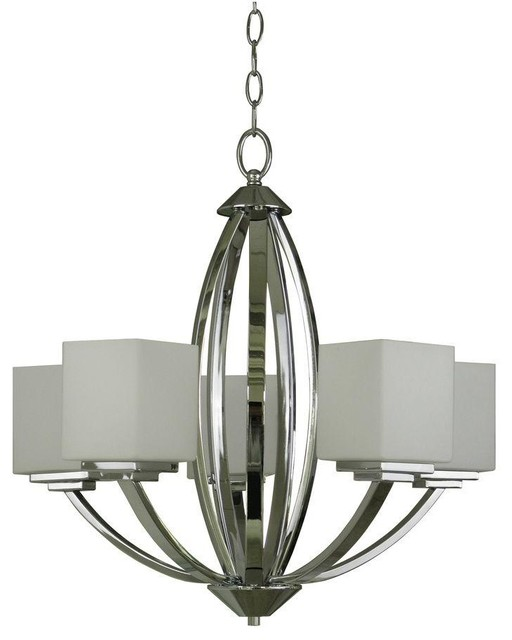 Yosemite Home Decor Chandeliers Paloma Collection 5 Light Chrome Hanging Contemporary Chandeliers