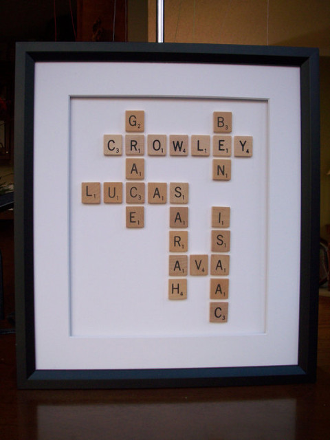 Custom Scrabble Crossword Style Framed Names By Its My