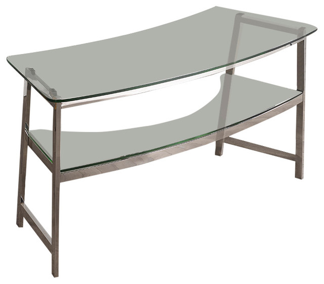 "Geo 62"" Glass Writing Desk Desks And Hutches by"