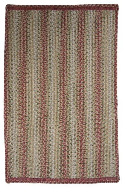 Homespice Decor Rose Meadow Pink Beige Area Rug Farmhouse Outdoor Rugs