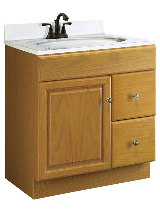 Design House - 30 in. Vanity Cabinet with One Door - Vanity top and faucet not included. Water ...
