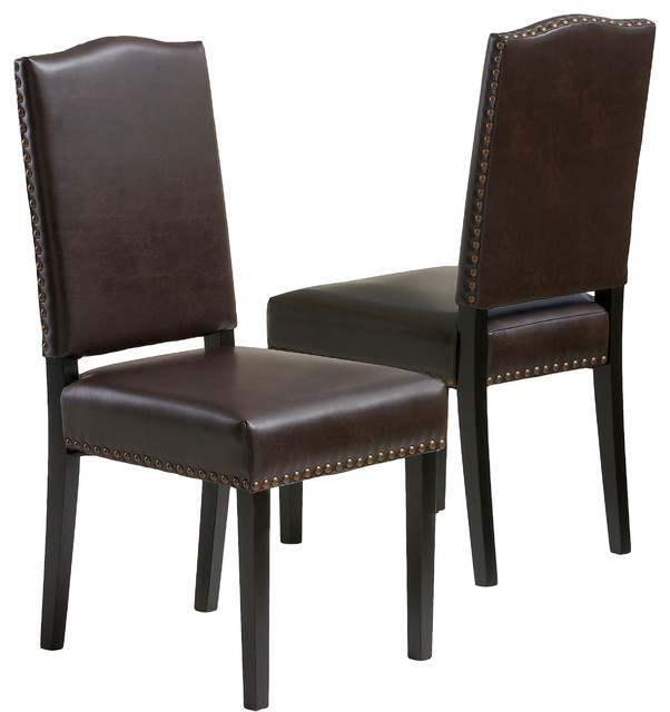 Dining Chairs Deals: Stuart Brown Leather Dining Chair, Set Of 2