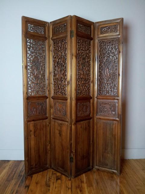 wood room divider panel 1
