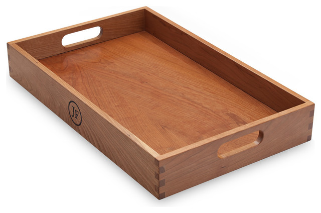 Hardwood Serving Tray, Cherry - Traditional - Serving Trays - by Jewett Farms + Co.
