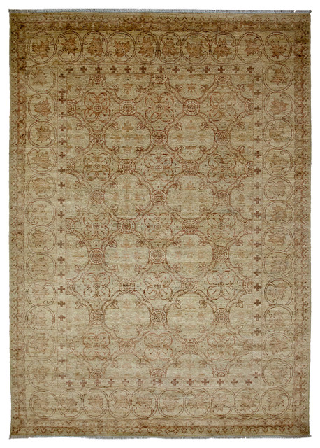 Oushak Wool Area Rug Ivory 6x9 Traditional Area Rugs