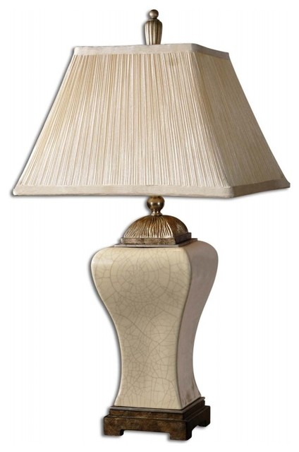 ivan crackled ivory table lamp traditional table lamps by unique. Black Bedroom Furniture Sets. Home Design Ideas