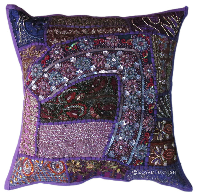 Handmade Heavy Beads Vintage Throw Pillow - Craftsman - Decorative Pillows - other metro - by ...