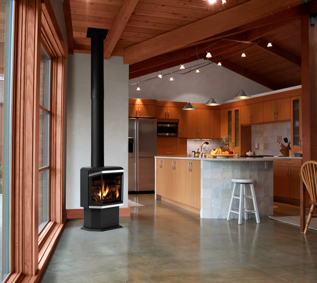 Wood and Gas stove installations - Modern - seattle - by Concept Builders, Inc.