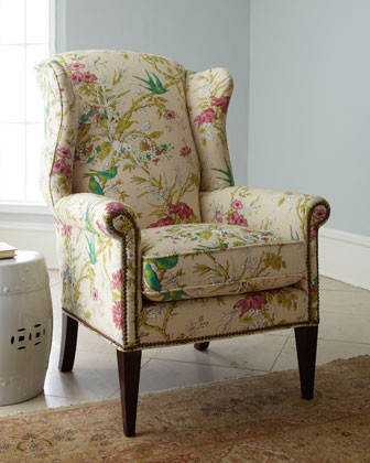 Sophie Wing Chair Traditional Armchairs And Accent