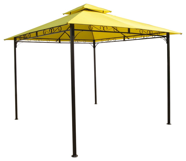 10 X10 Yellow Canopy With Sturdy Powder Coated Outdoor
