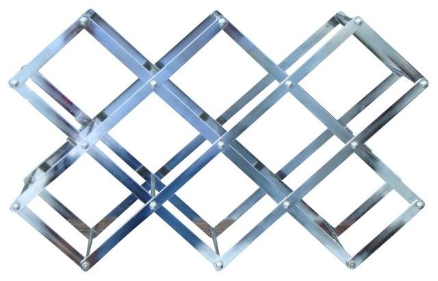 Stainless Steel Folding Accordion Wine Rack Modern