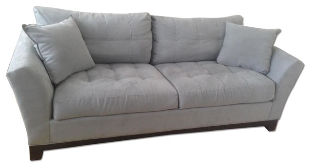 Raymour flanigan blue couch sofas new york by aptdeco for Raymour flanigan sofa bed