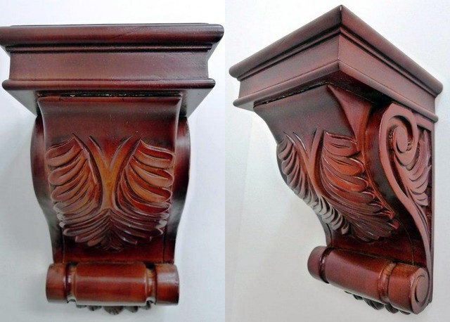 O'Neil Cherry Decorative Corbel with Acanthus Deisgn - Artwork - orange county - by Belle Choices