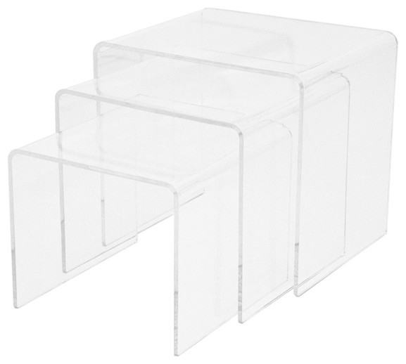 Table gigogne en acrylique plexi design contemporary side tables - Table gigogne transparente ...