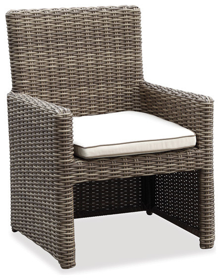 Wicker Outdoor Dining Chair w Cushion Hampton Collection  : contemporary garden dining chairs from www.houzz.co.uk size 446 x 564 jpeg 93kB