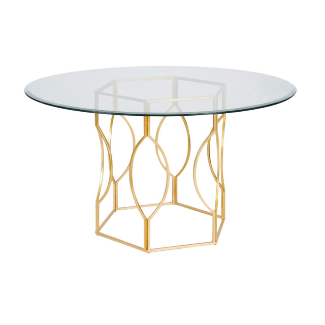 Worlds Away Abigail Dining Table-Gold - Traditional - Side Tables And End Tables - By Candelabra