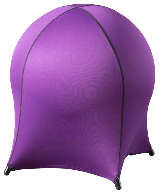 Bobbi spandex fabric office ball chair purple contemporary office chairs by gdfstudio