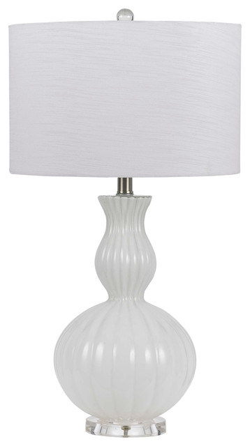 Cal lighting bo 2436tb wh 150w 3 way hand blown glass for 150 w table lamp