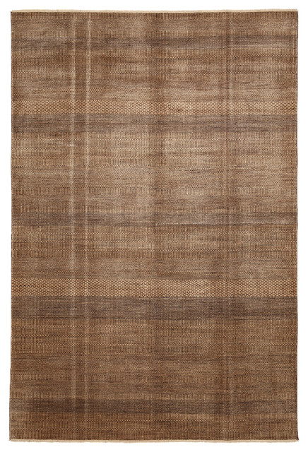 Modern Wool Area Rug Brown 6x9 Modern Area Rugs By