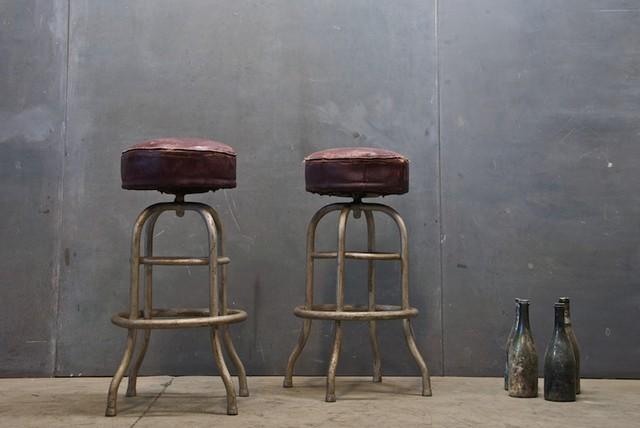 Vintage Bauhaus Steel Cafe Stools Traditional Bar  : traditional bar stools and counter stools from www.houzz.com size 640 x 428 jpeg 52kB