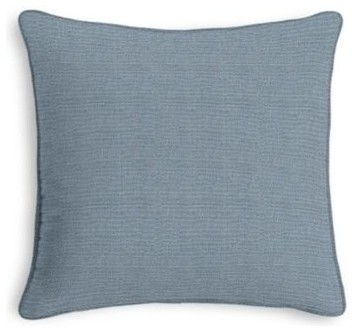 Muted Blue Throw Pillows : Muted Blue Textured Linen Custom Throw Pillow - Contemporary - Scatter Cushions - by Loom Decor