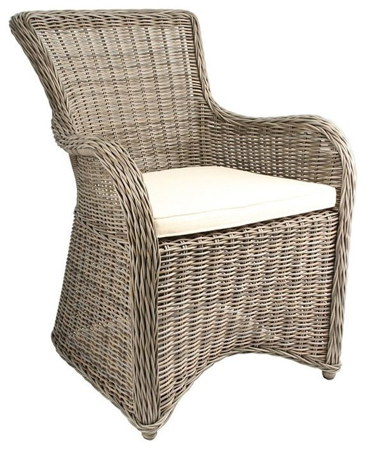 Krista Outdoor Armchair Gray Kubu Rattan Wicker
