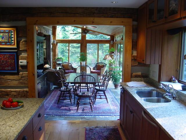 Log home addition remodel barrington hills for Log cabin additions ideas