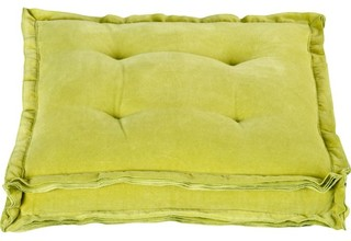 Velvet Chartreuse Floor Pillow - Contemporary - Floor Pillows And Poufs - by CB2