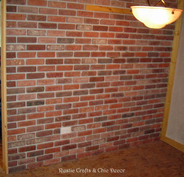 Installing an interior brick wall rustic by rustic for Glue on brick veneer