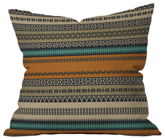 Deny Designs Viviana Gonzalez Textures Abstract Outdoor Throw Pillow 16x16x4 Southwestern Cushions