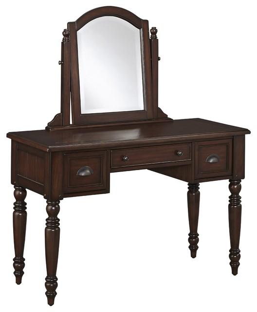 Country Comfort Vanity And Mirror Traditional Bedroom Makeup Vaniti