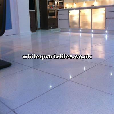 White Quartz Tiles Modern Wall amp Floor London