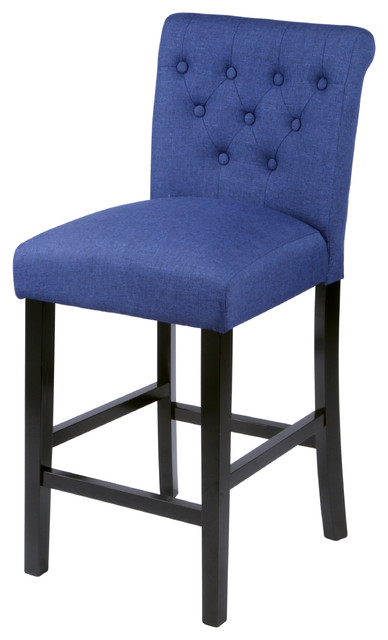 Sopri Deep Blue Counter Chairs Set of Two transitional