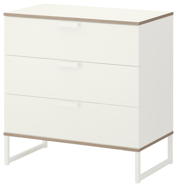 trysil chest of 3 drawers white light gray modern dressers by ikea. Black Bedroom Furniture Sets. Home Design Ideas