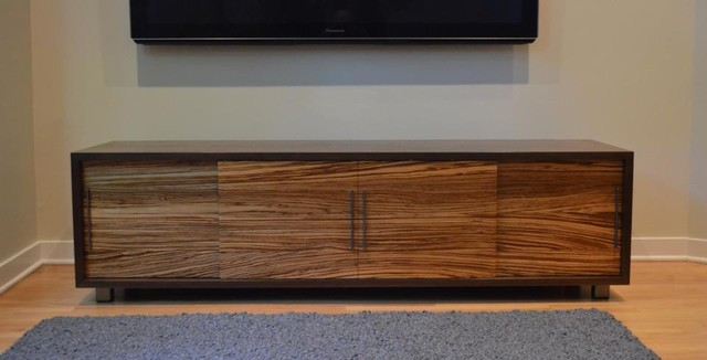 Symanski Media Console - Modern - Entertainment Centers And Tv Stands - chicago - by nFORMAL design