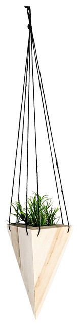 Geometric Hanging Planter Maple Tall Contemporary