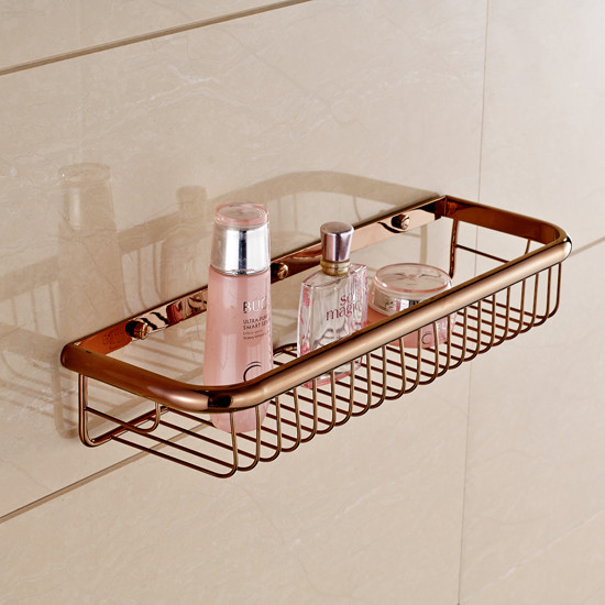 Bathroom Wall Mount Storage Holder Shower and Soap Wire Basket M018-45 - Modern - Bathroom ...
