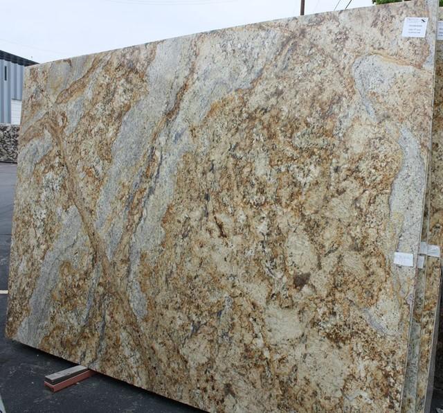 Golden River Granite Kitchen: Stone Slab- Yellow River Granite