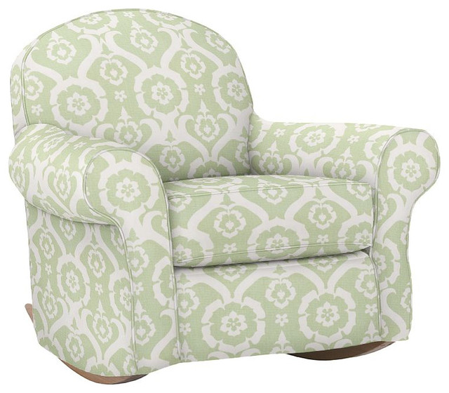 Dream rocker ottoman traditional rocking chairs by for Childrens rocking chair with footstool