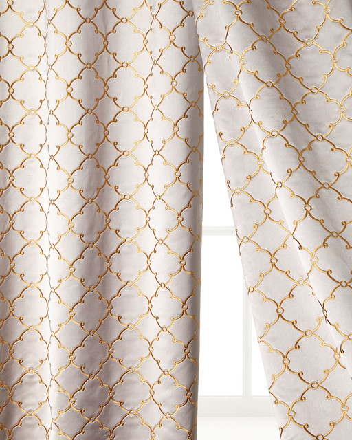 Each 52 w x 108 l alhambra curtain contemporary for 108 window treatments