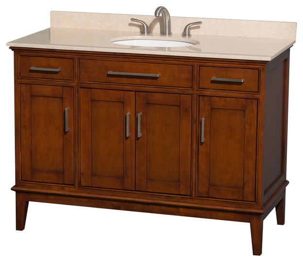 Eco Friendly 2 Drawer Transitional Single Bathroom Vanity Contemporary Bathroom Vanities And