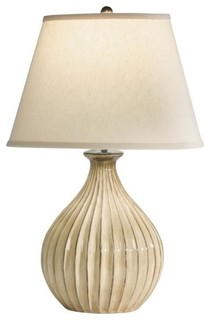 beige ball table lamp modern table lamps raleigh by. Black Bedroom Furniture Sets. Home Design Ideas