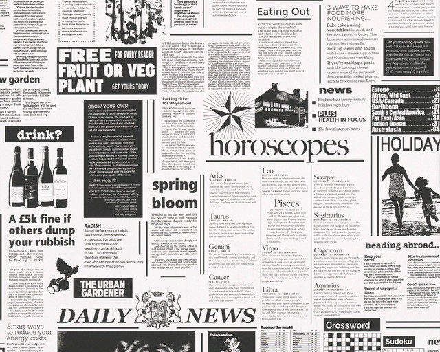 Newspaper Wallpaper Black And White Roll Contemporary