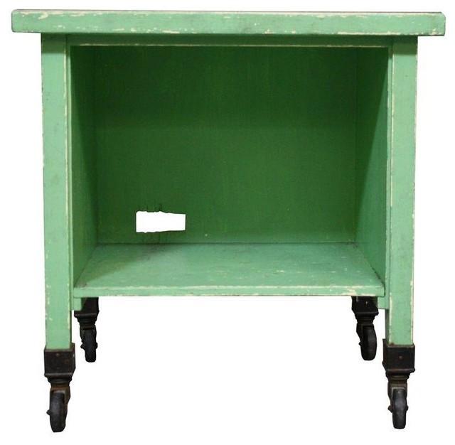 Vintage Green Laundry or Bar Cart - Modern - Filing ...