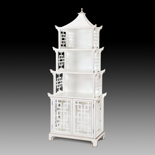 Grand pagoda tag re asian bookcases by c bell - Etagere grande hauteur ...